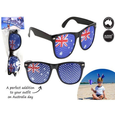 Black Aussie Day Wayfarer Sunglasses - The Base Warehouse