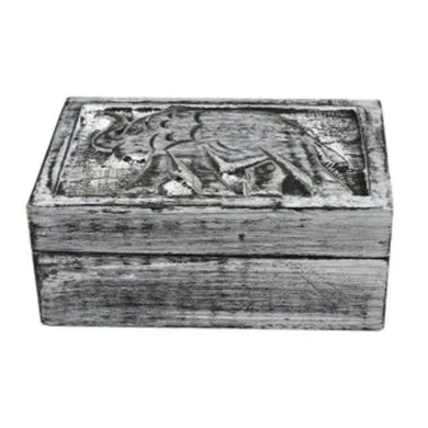 Black Wash Toto Wood Box - 10cm x 15cm x 6cm - The Base Warehouse