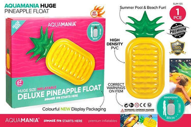 Inflatable Giant Pinapple Float - 186cm x 80cm x 20cm - The Base Warehouse