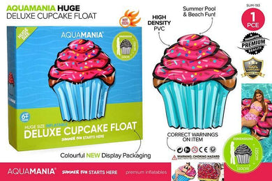 Inflatable Giant Cupcake Float - 135cm x 110cm - The Base Warehouse