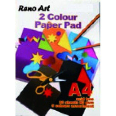 30 Sheets A4 Two Colour Pad - 80gsm - The Base Warehouse