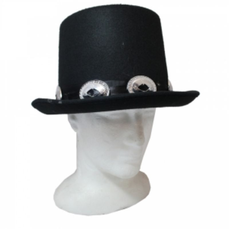 Slash Style Black Top Hat