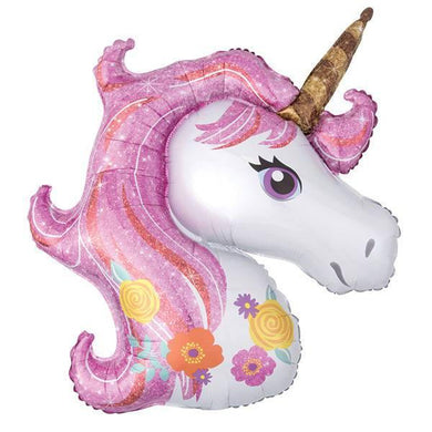 Pink Unicorn Foil Balloon - The Base Warehouse