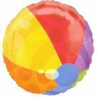 Beach Ball Foil Balloon - 45cm