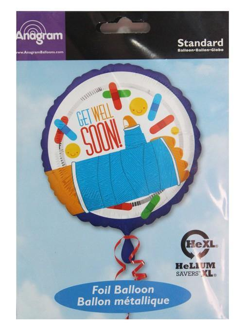 Get Well Soon Hand Cast Mulitcolored Foil Balloon - 45cm