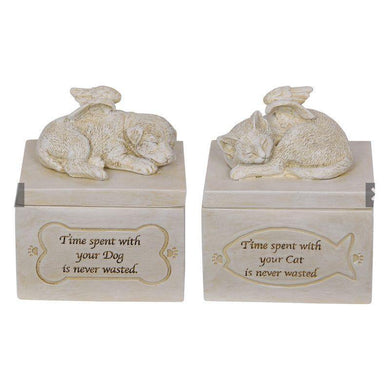 2 Assorted Design Memorial Box - 12cm - The Base Warehouse