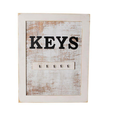 LaChaux Wall Sign with Key Hooks - 28cm x 4cm x 35.5cm - The Base Warehouse