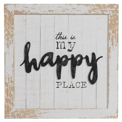 This Is My Happy Place Wall Sign - 40.6cm x 40.6cm - The Base Warehouse