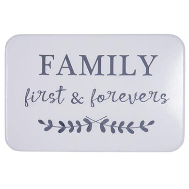 Family First And Forever Wall Sign - The Base Warehouse