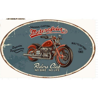 Mechanic on Duty Iron Oval Wall Plaque - 57cm x 34cm - The Base Warehouse