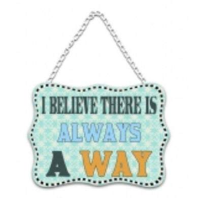 Inspirational Word Metal Wall Hanging 2 - 20cm x 27cm - The Base Warehouse