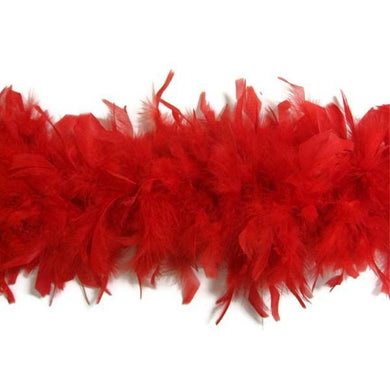 Red Feather Boa - The Base Warehouse