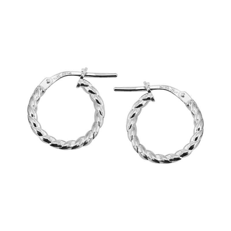 Alexis Creole Earrings Sterling Silver