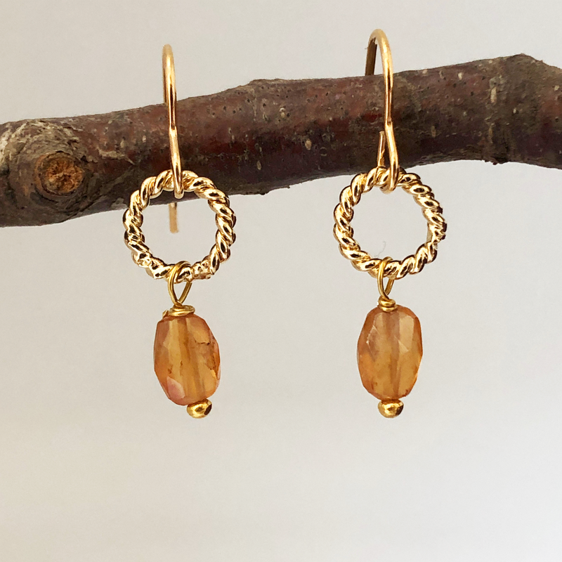 Alexis Earrings Citrine
