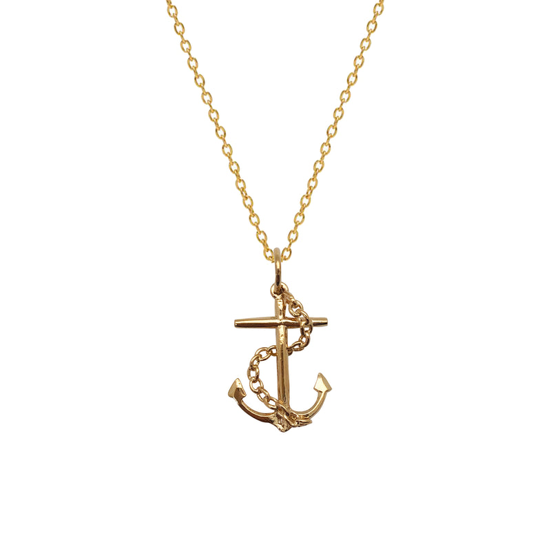 Anchor with Chain Charm - Mirabelle Jewellery
