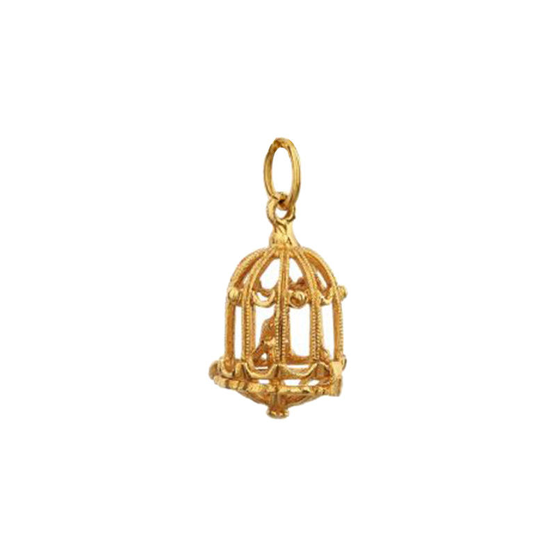 Articulated Birdcage Charm - Mirabelle Jewellery