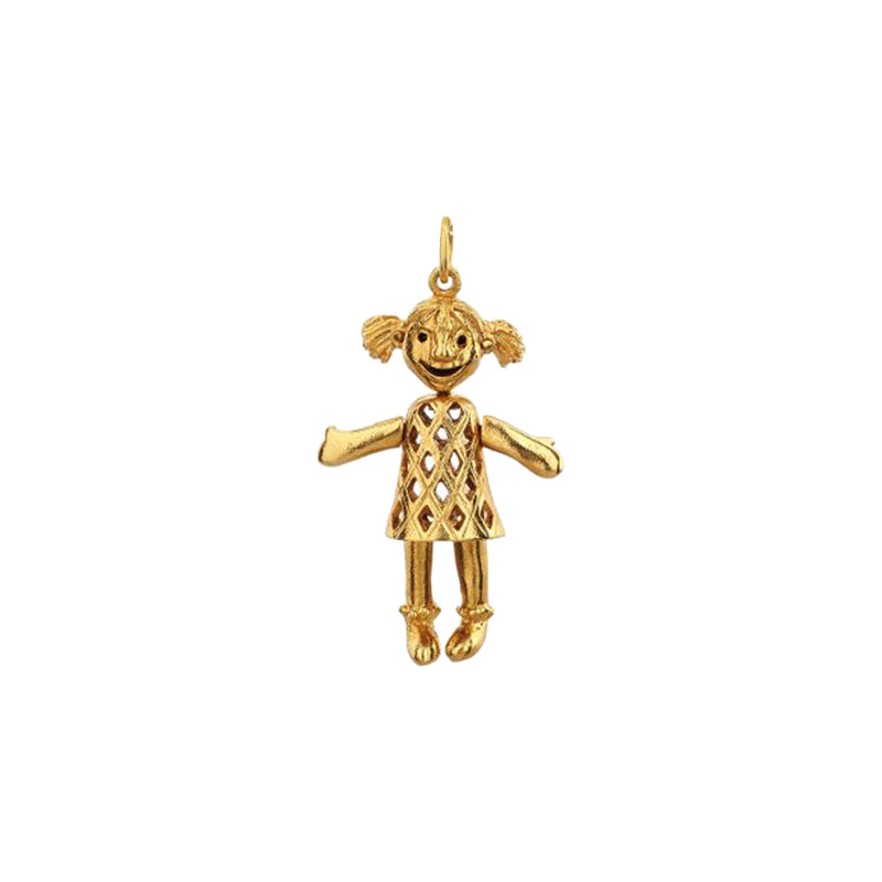 Articulated Doll Charm - Mirabelle Jewellery