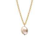 Iridescent Coin Pearl Pendant
