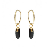 Cora Creole with Mini Point Black Onyx - Mirabelle Jewellery