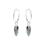 Cora Creole with Mini Point Labradorite Sterling Silver - Mirabelle Jewellery