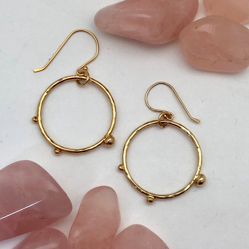 Dot Hoop Earrings - Mirabelle Jewellery