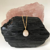 Facetted Silverite Pink Stone Pendant