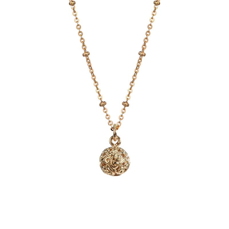 Filigree Ball Pendant - Mirabelle Jewellery