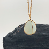 Freeform Pebble Aquamarine Pendant