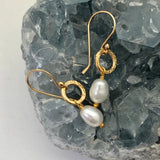 Gita Earrings Oval Pearl - Mirabelle Jewellery
