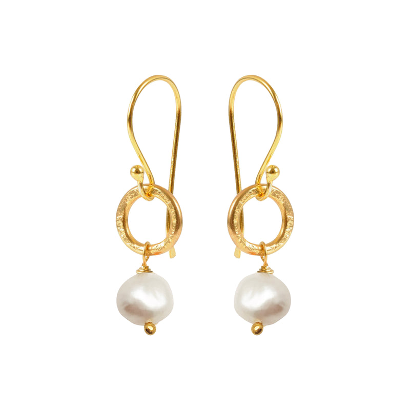 Gita Earrings Potato Pearl - Mirabelle Jewellery