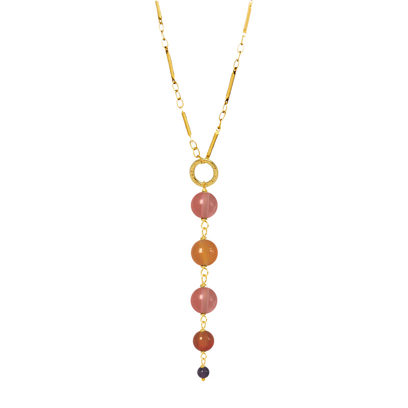 Gita Pendant 5 Stone Mixed Berry - Mirabelle Jewellery