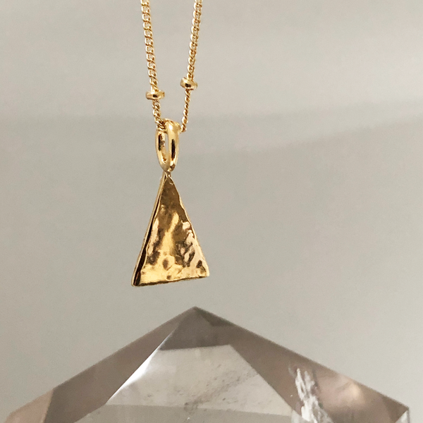 Hammered Triangle Pendant