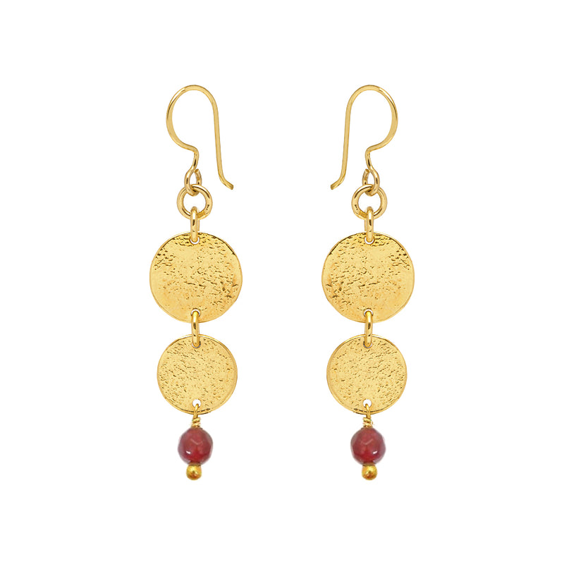 Harmonia Earrings Semi Precious - Mirabelle Jewellery