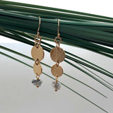 Harmonia Earrings Herkimer Diamond - Mirabelle Jewellery