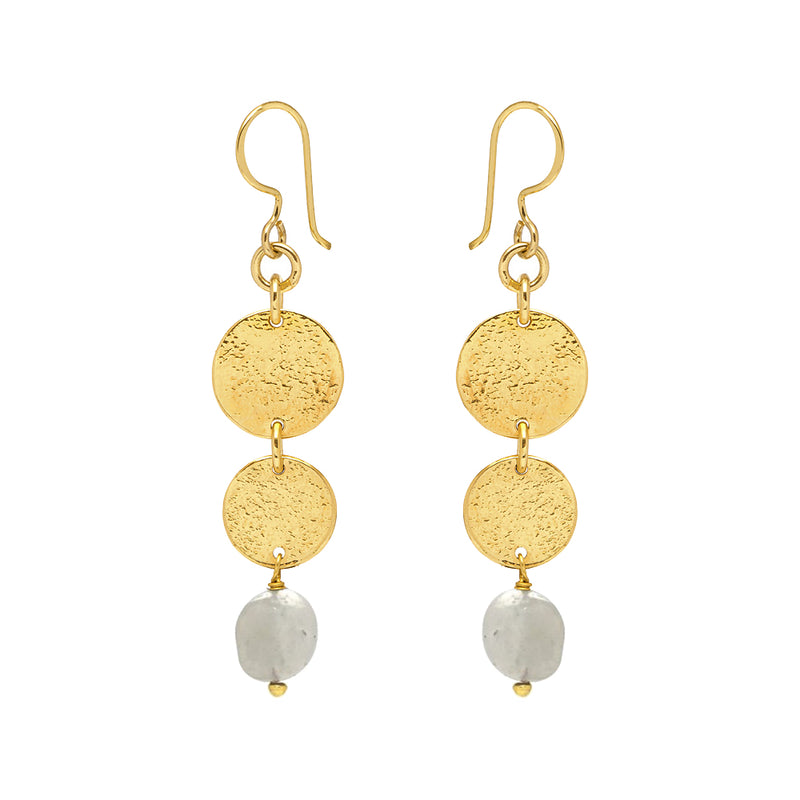 Harmonia Earrings Moonstone - Mirabelle Jewellery