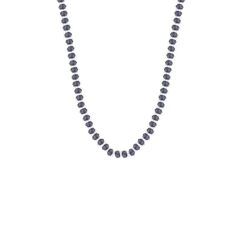 Iolite Bead Necklace Sterling Silver - Mirabelle Jewellery
