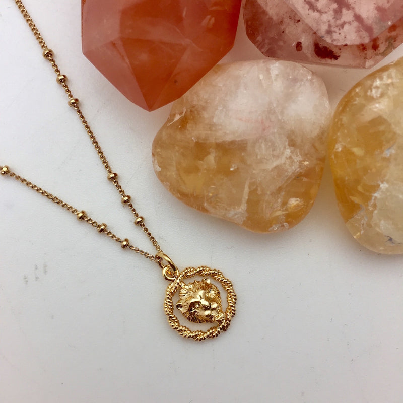 Zodiac Medal British Made - Mirabelle Jewellery