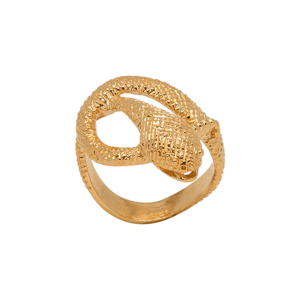 Large Snake Ring - Mirabelle Jewellery