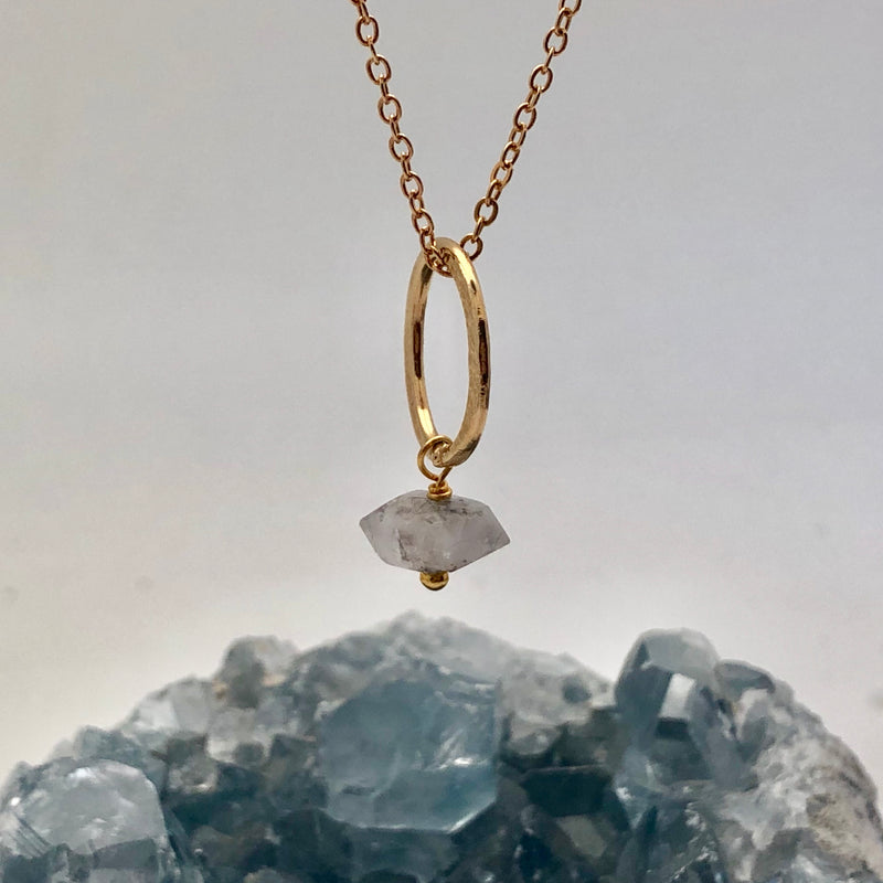 Lottie Pendant Herkimer Diamond - Mirabelle Jewellery