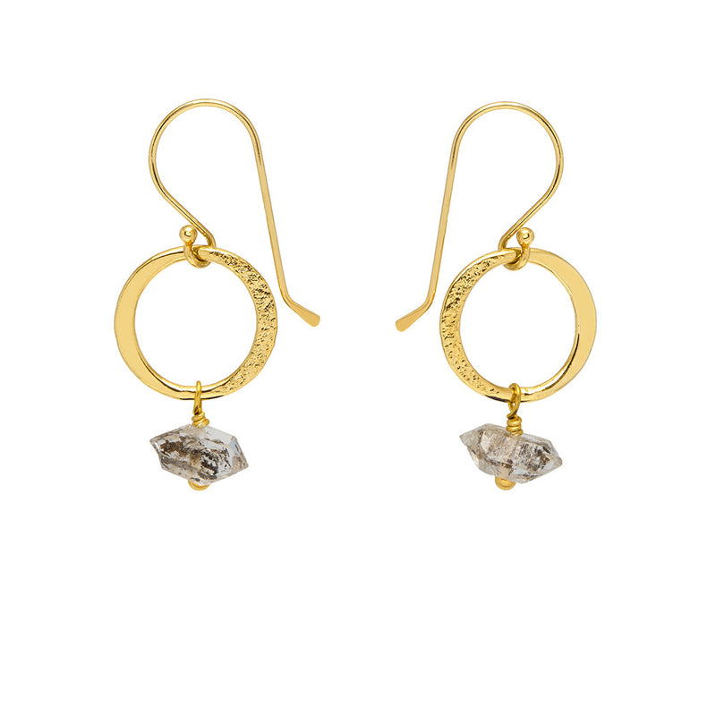 Lottie Earrings Herkimer Diamond - Mirabelle Jewellery
