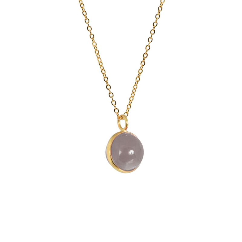 Magic Crystal Ball Grey Chalcedony - Mirabelle Jewellery