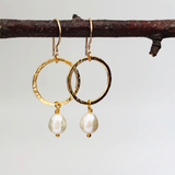Margaret Earrings with Freshwater Pearl - Mirabelle Jewellery