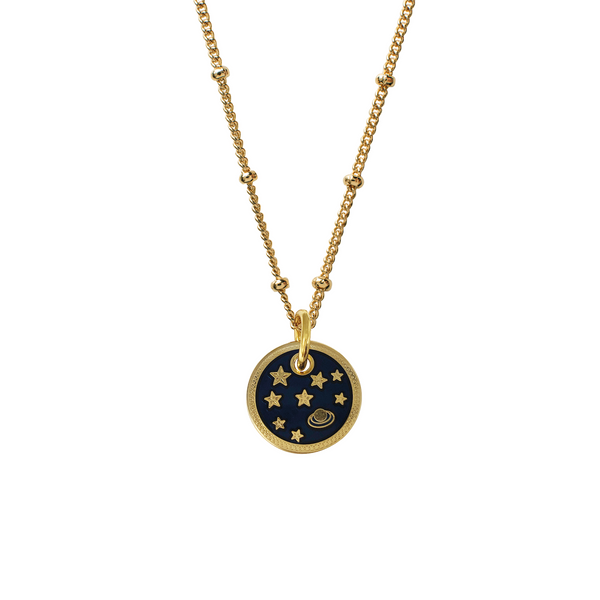 Planet and Stars Enamel Medal