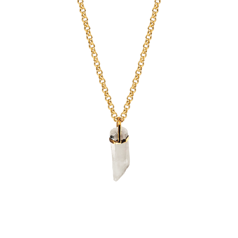 Raw Rock Crystal Point Pendant