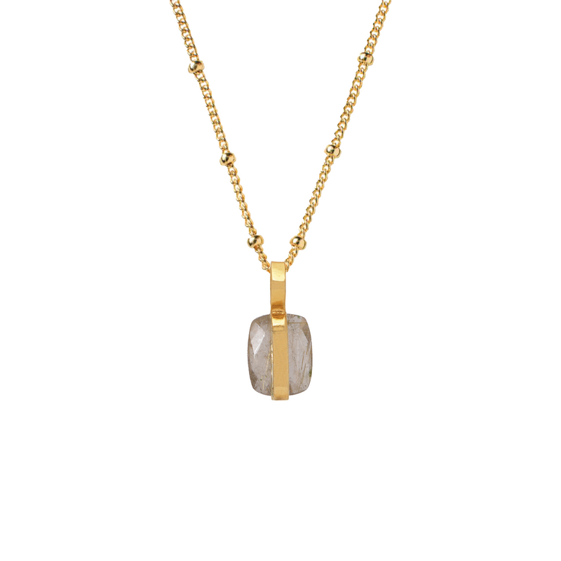 Rutil Quartz Vertical Setting Pendant