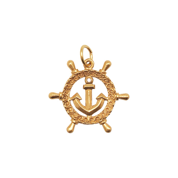 Ship's Wheel with Anchor Charm - Mirabelle Jewellery