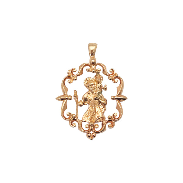 St Christopher Large Pendant