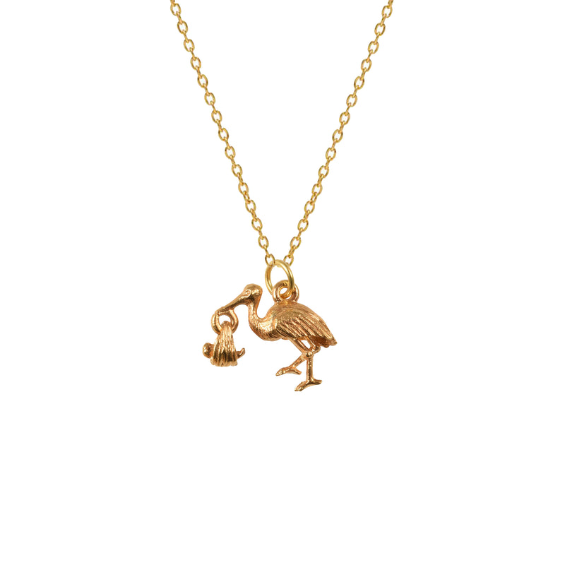 Stork with Baby Charm - Mirabelle Jewellery