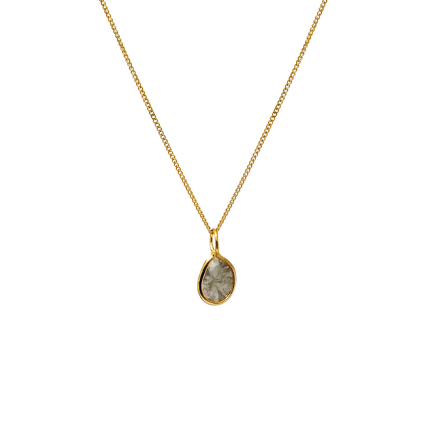 Tiny Polki Diamond Pendant 9ct Gold