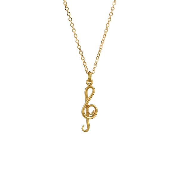 Mini Treble Clef Charm - Mirabelle Jewellery